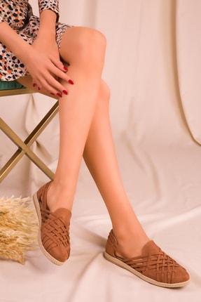 SOHO Taba Suet Kadın Casual Ayakkabı 14711