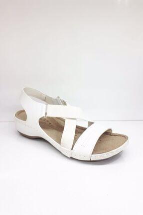 Jump Kadın Beyaz Comfort Sandalet