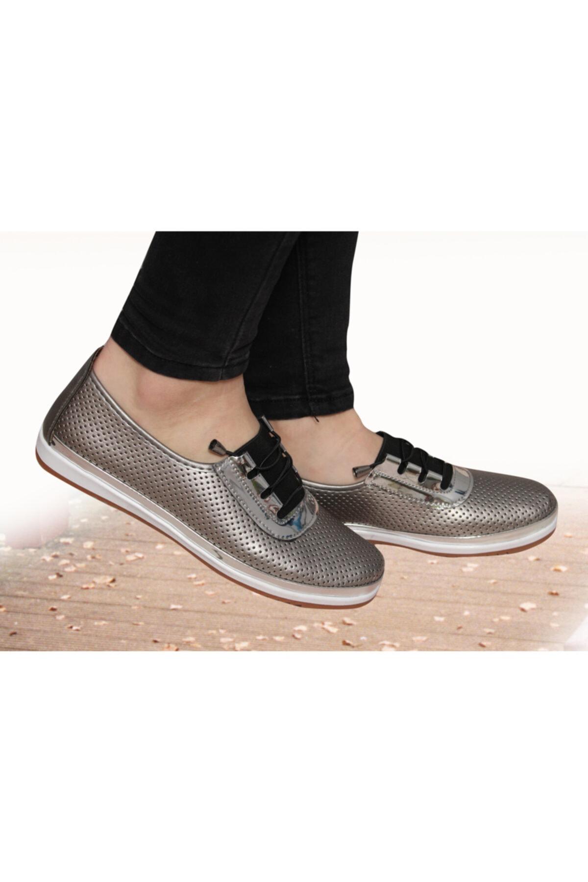 Witty Kadın Günlük Gri Ortopedik Babet Ayakkabı 1