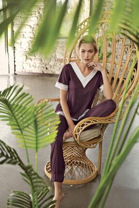 Artış Mürdüm Melanj Pijama Takımı-10200