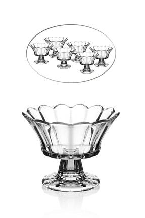 Queen's Kitchen 6 Adet Ayaklı Kristal Cam Lokumluk&çerezlik Tk