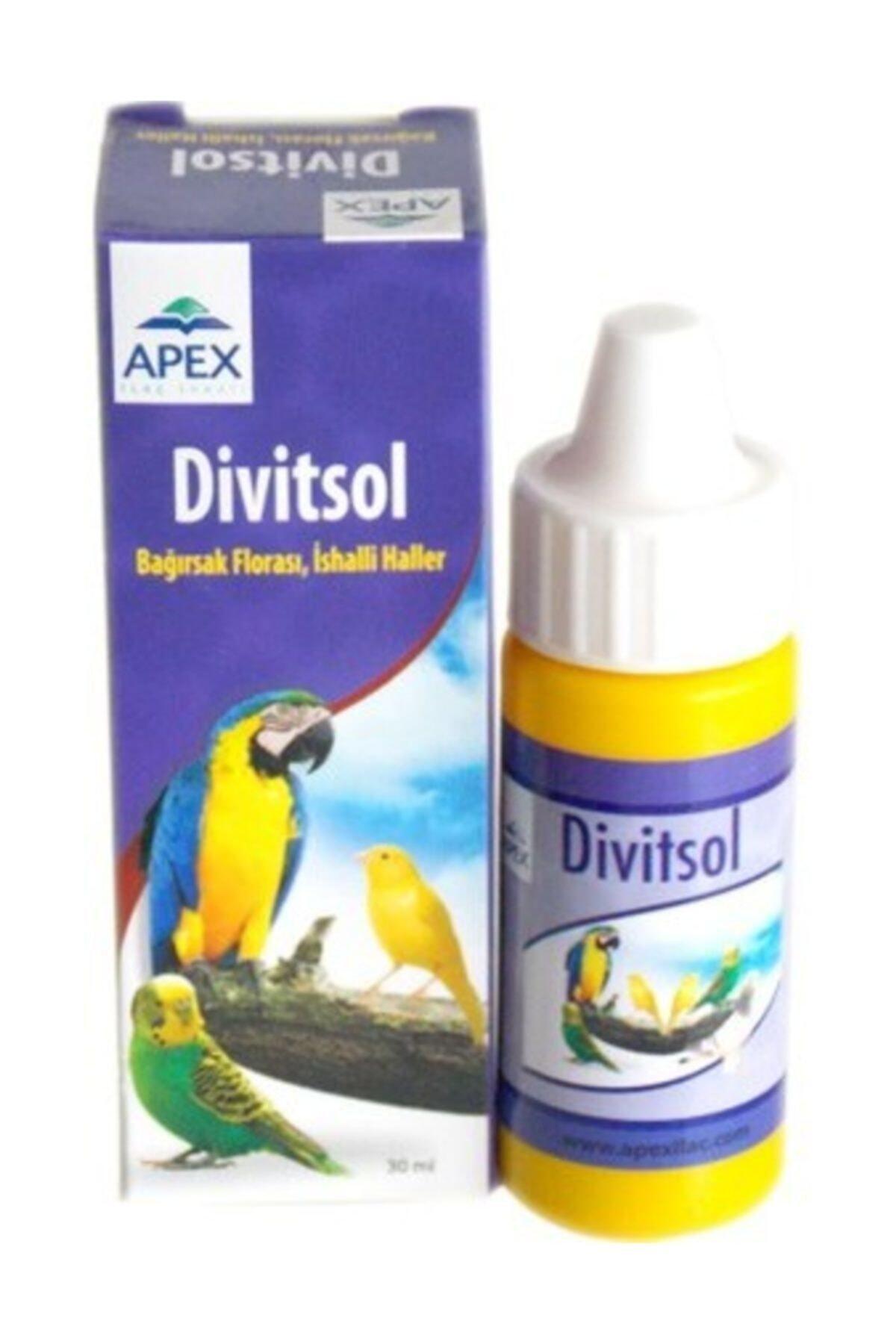 Apex Divitsol Kuş Için Bağırsak Florası Ishal 30 ml 1
