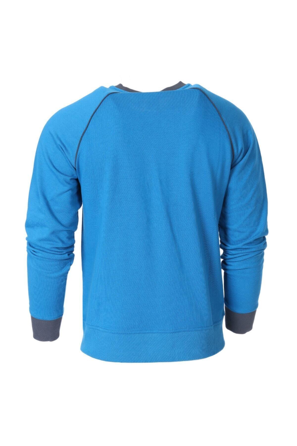 Sportive Erkek Mavi Antrenman Sweatshirt 2