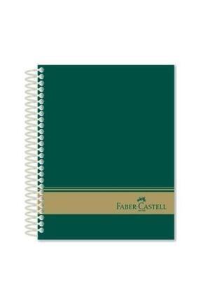 Faber Castell 120 Yaprak Sert Kapak Gri 3+1 Bölmeli Defter