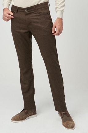 ALTINYILDIZ CLASSICS Erkek Kahverengi Slim Fit Desenli Pantolon