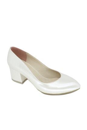 PUNTO Kadın Beyaz Kalın Topuklu Fantazi Ayakkabı 462046 Z