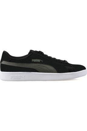 Puma Erkek Haki Siyah Smash V2 Buck Günlük Spor Ayakkabı 36516017