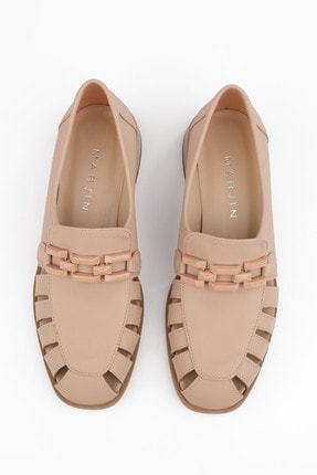 Marjin Kadın Bej Loafer Ayakkabı Jenay