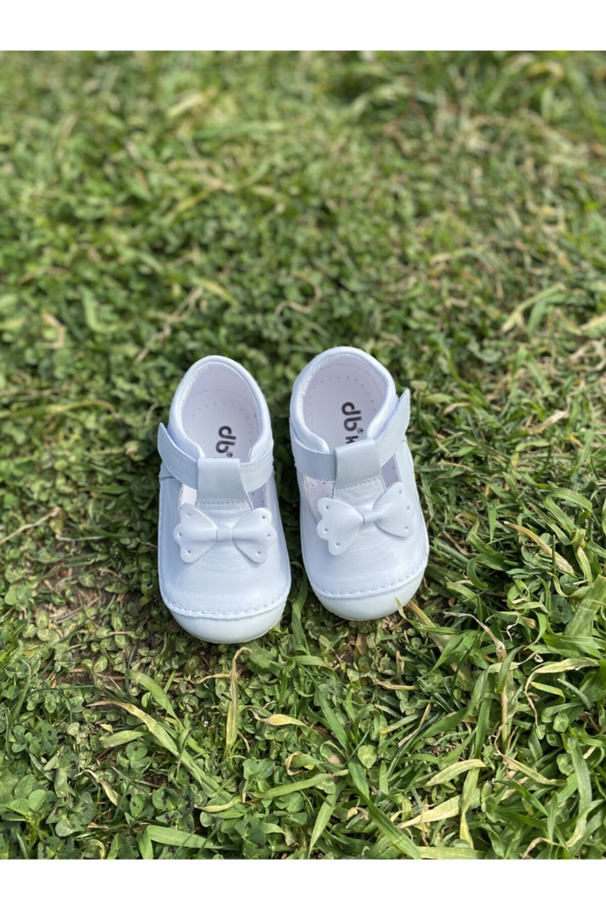Doğbebe Kız Bebek Beyaz Deri Ortopedik Ilk Adım Ayakkabısı 2
