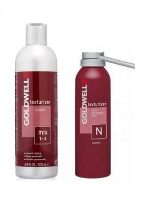 GOLDWELL Texturizer N Doğal Saçlar Için Geçici Perma Losyonu 200 Ml + Stabilizer Sabitleyici Losyon 500 Ml