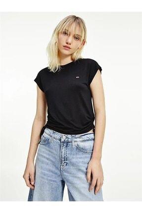 Tommy Hilfiger Kadın Siyah T-Shirt Tjw Regular Sıde Knot Tee DW0DW09776