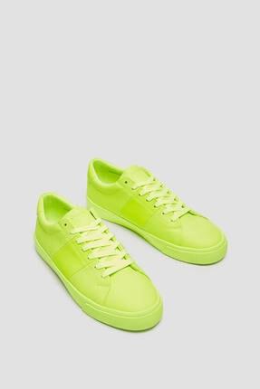 Pull & Bear Erkek Sarı Casual Neon Spor Ayakkabı