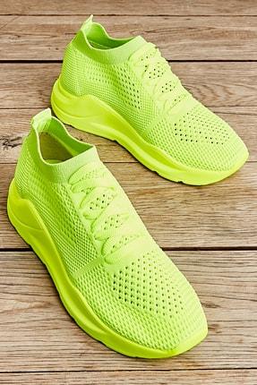 Bambi Sarı Kadın Sneaker K01673450682