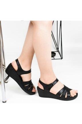 Polaris 161886 Dolgu Topuk Bayan Günlük Sandalet