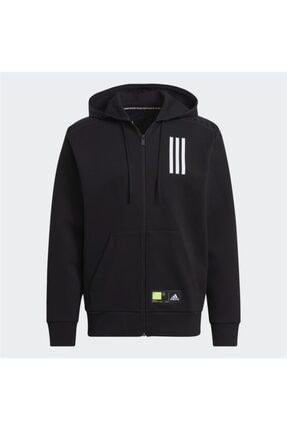 adidas Erkek Fermuarlı Kapüşonlu Sweatshirt M Overlay Fz Gm5783