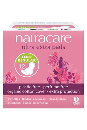 Natracare Ultra Ekstra Kanatlı Ped Normal 12'Li