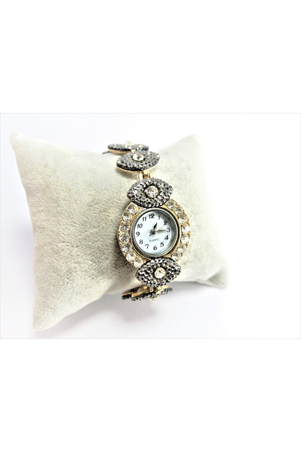 TÜKKAN ACCESSORİES kadın Gümüş Taşlı Kol Saati 1