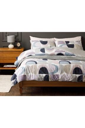 English Home Abstract Pamuk Tek Kişilik Nevresim Takımı 160x220 Cm Mavi-lila