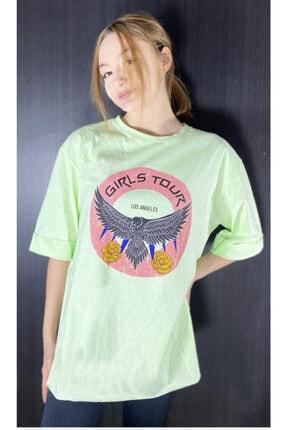 PODİUM by alara kılıç Kadın Baskılı T-shirt