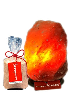 Tuzcu Ahmet Himalaya Tuz Lambası 5-6 kg  + Himalaya Tuzu 1 kg