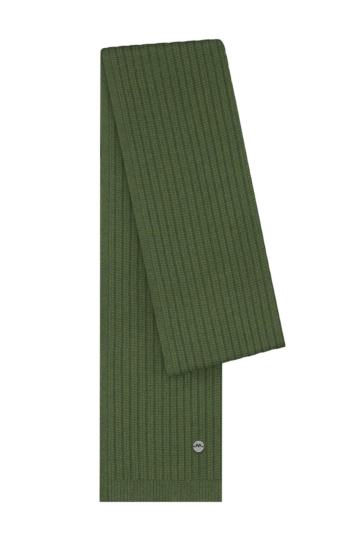 Hemington Koyu Yeşil Merino Yün Atkı 1