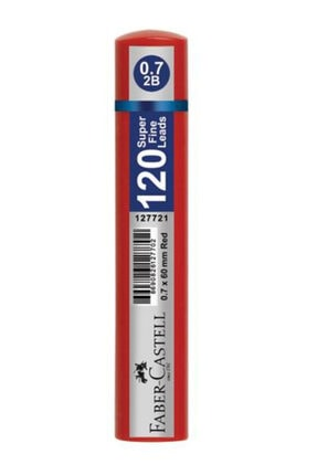 Faber Castell Grip Min Kırmızı 120'li 0.7 2b 60 Mm