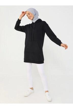 Refka Kadın Lacivert Kapüşonlu Sweatshirt
