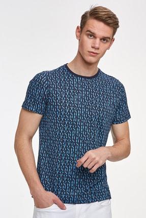 Hemington Erkek Lacivert Logolu Bisiklet Yaka T-shirt