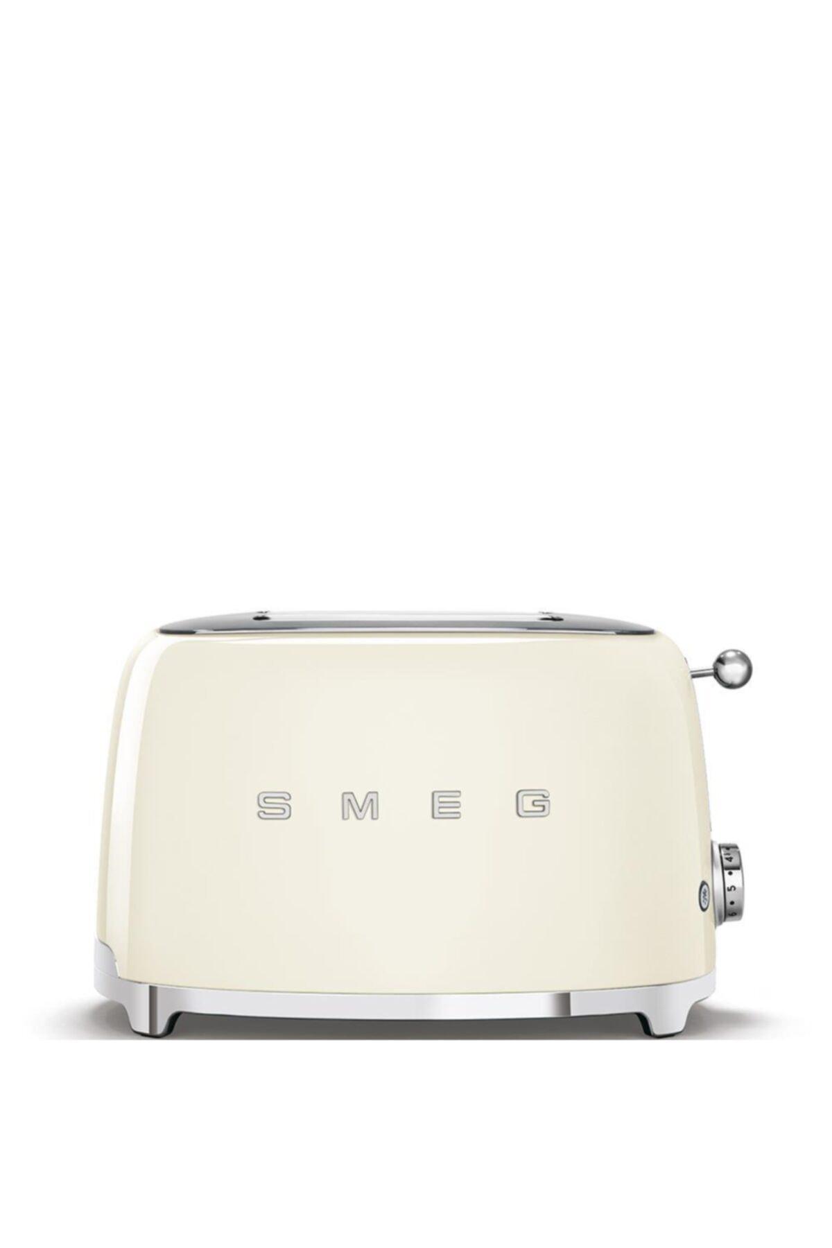 SMEG Beyaz Tsf01creu Retro Krem 2x2 Slot Ekmek Kızartma Makinesi 1