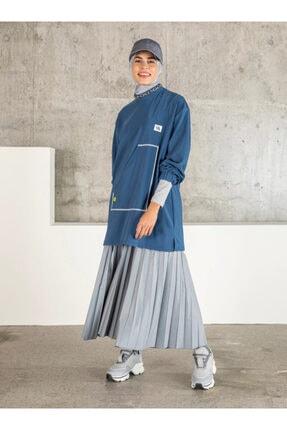 Loreen Kadın İndigo Cep Detaylı Tunik