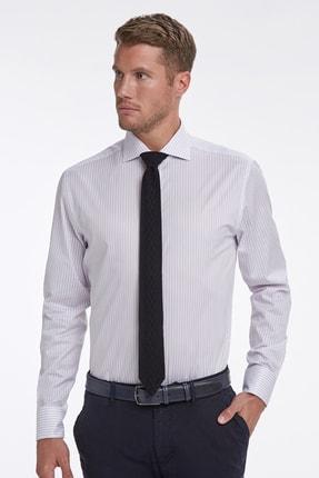Hemington Lila Beyaz Çizgili Business Gömlek