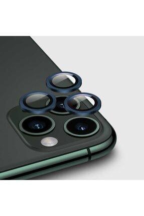 zore Apple Iphone 12 Pro Max Kamera Lens Koruyucu Lacivert