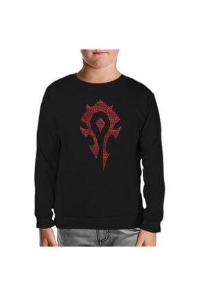 Lord T-Shirt Unisex Çocuk Siyah World Of Warcraft Silver Moon Sweatshirt