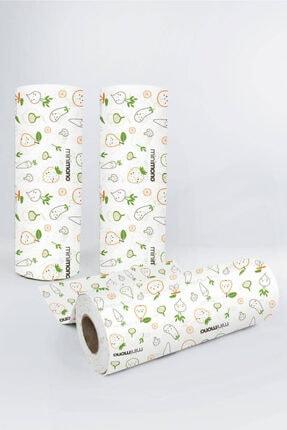 Minimono Mama Sandalyesi Ve Aktivite Örtüsü | 3'lü Paket | Kullan At | 30 Adet | 100x120 Cm | Meyve & Sebze