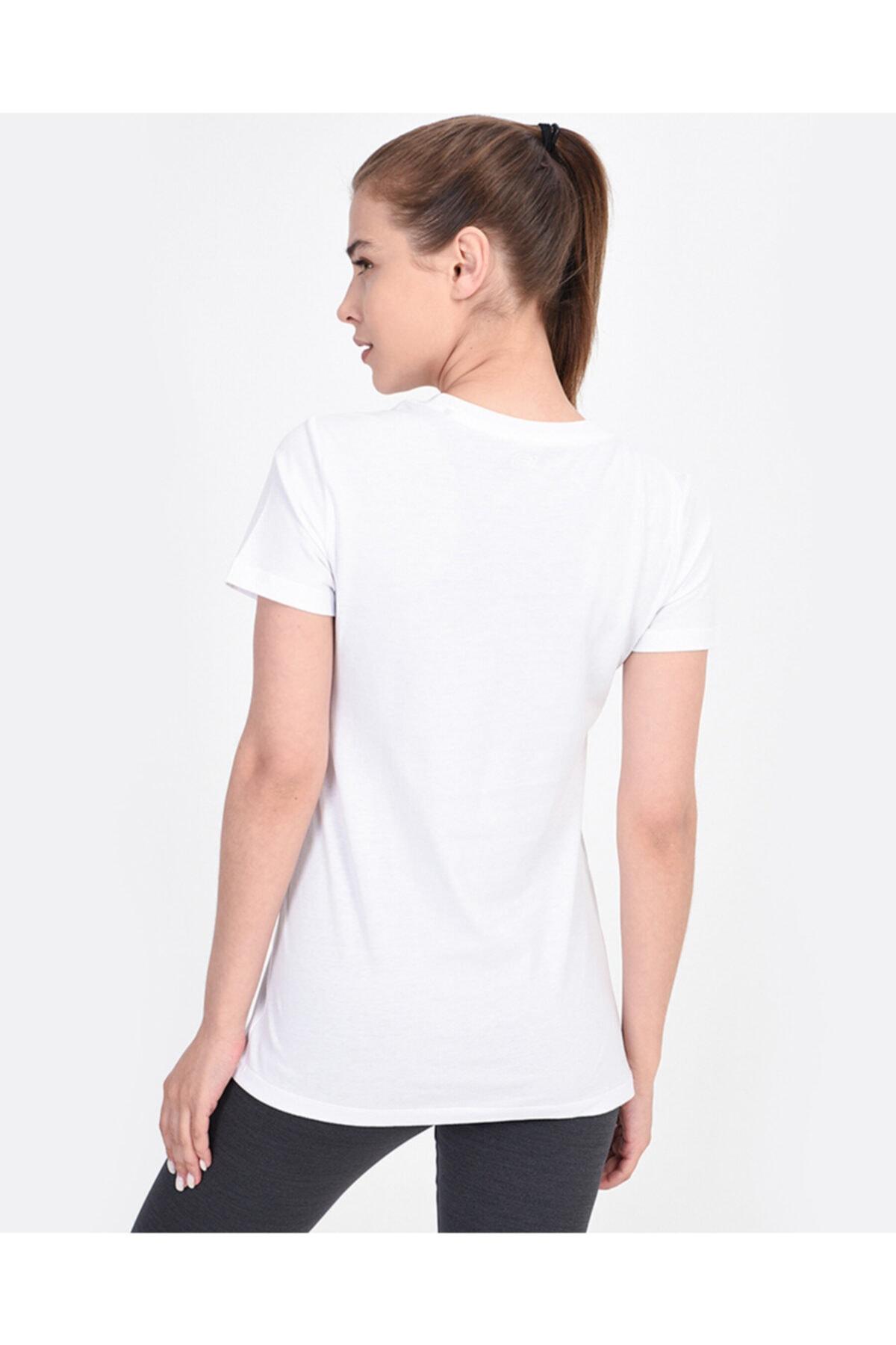 SKECHERS Graphic Tee's W Core Logo Kadın Beyaz Tshirt 2