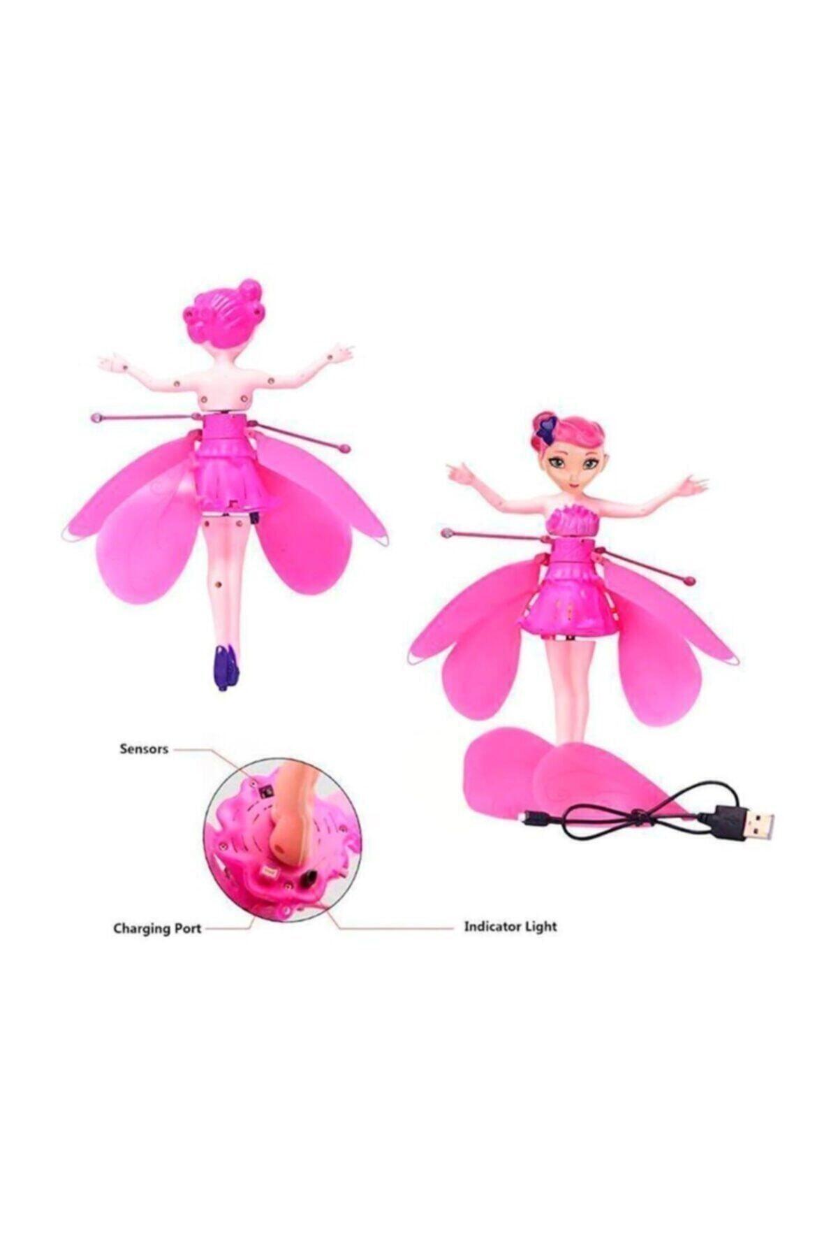 DEDE Uçan Peri Oyuncağı - Şarjlı, Hareket Sensörlü - Sihirli Flying Fairy, Pembe 2