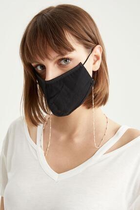 DeFacto Yıkanabilir Pamuklu Basic Maske Ve Zincir