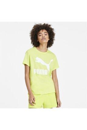 Puma CLASSICS LOGO TEE Sarı Kadın T-Shirt 100547640
