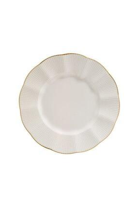 Kütahya Porselen Altınyaldızlı Düz Servis Tabağı 6 Adet 25 cm