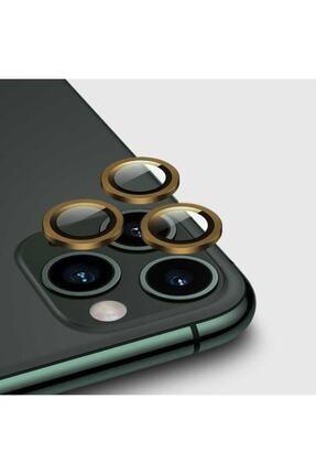 zore Iphone 12 Pro Max Kamera Lens Koruyucu Gold