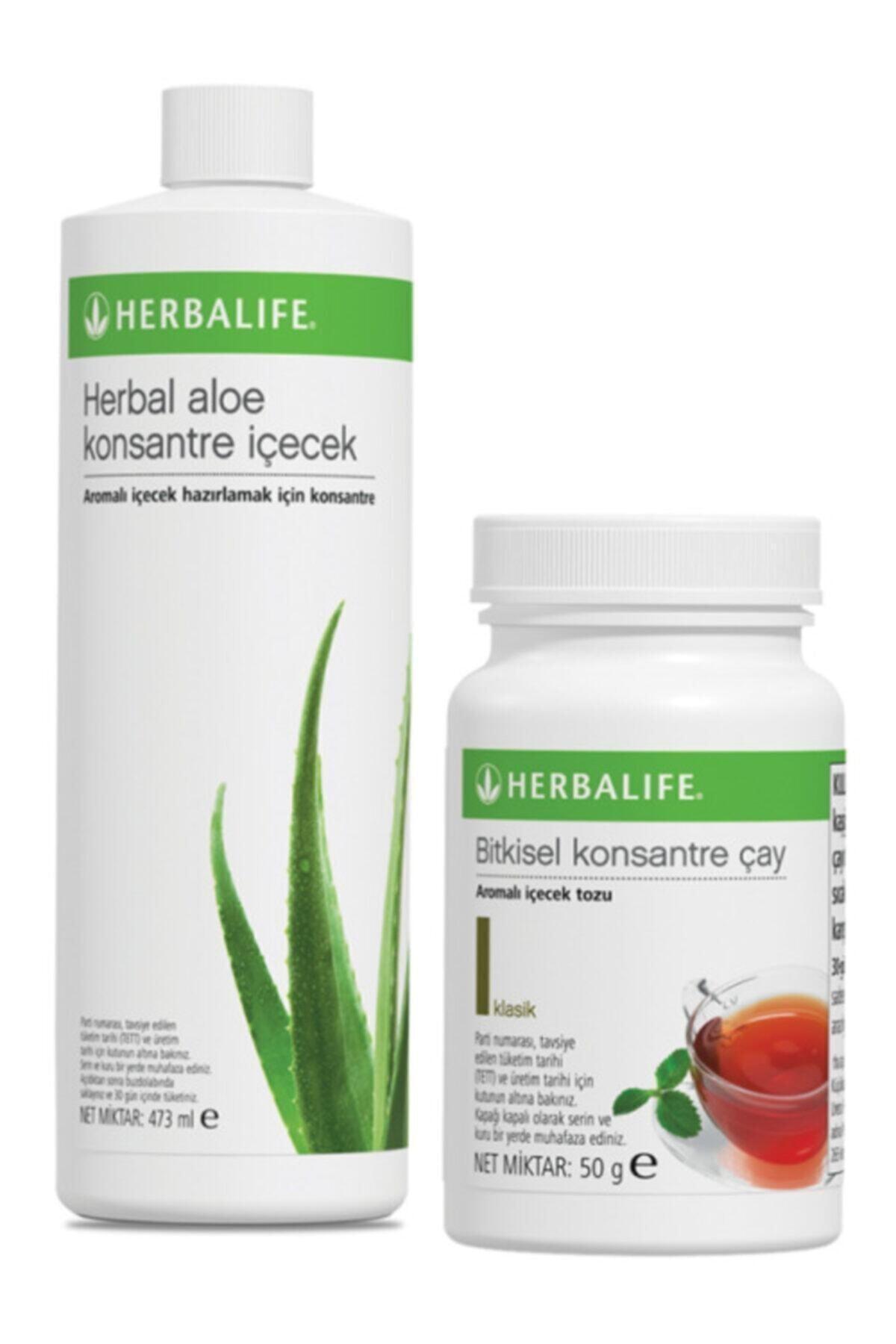 Herbalife Set Aloe Konsantre Içecek Ve Klasik 50g Çay 1