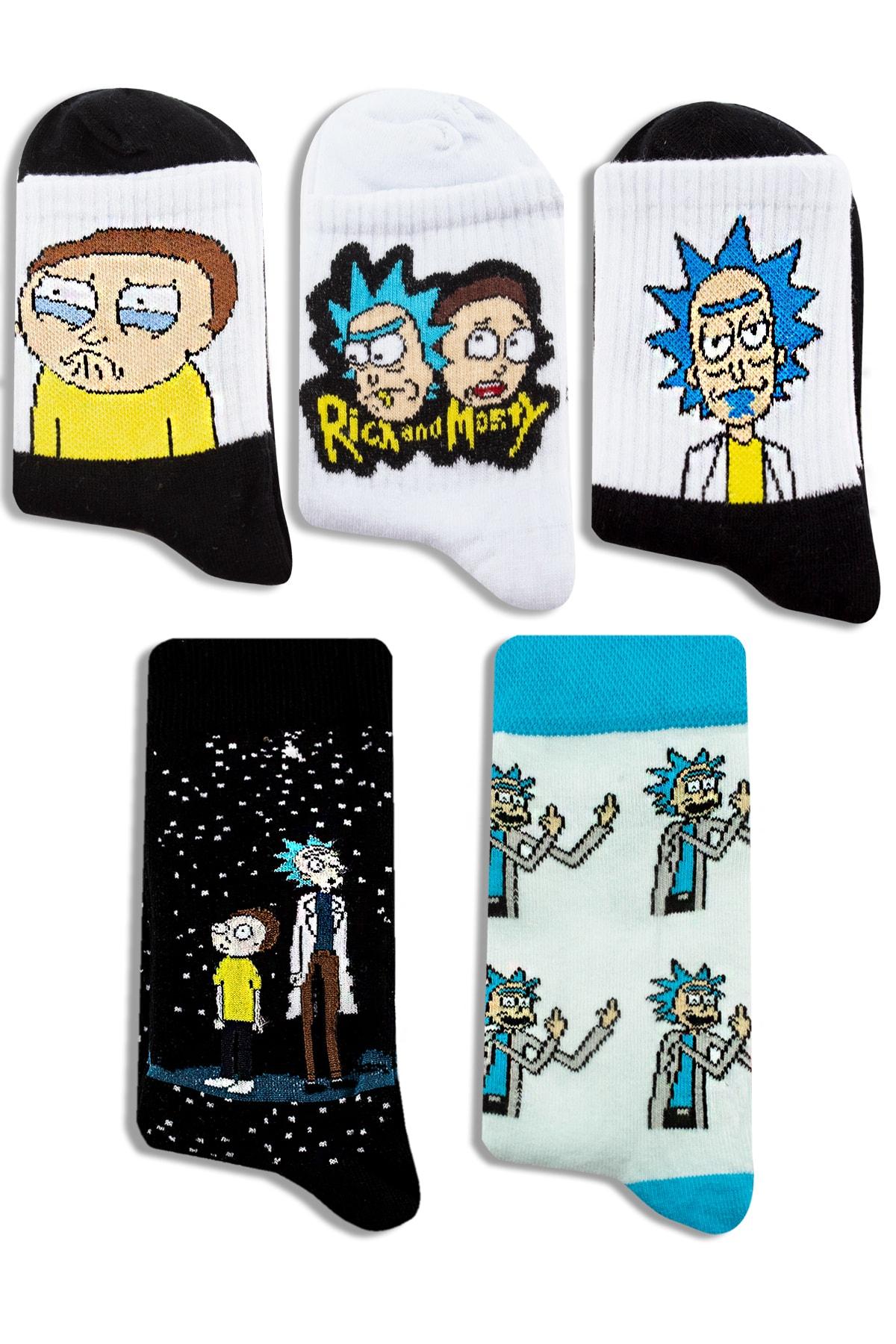 Socksarmy Rick & Morty Desenli 5 'li Renkli Çorap Seti 1