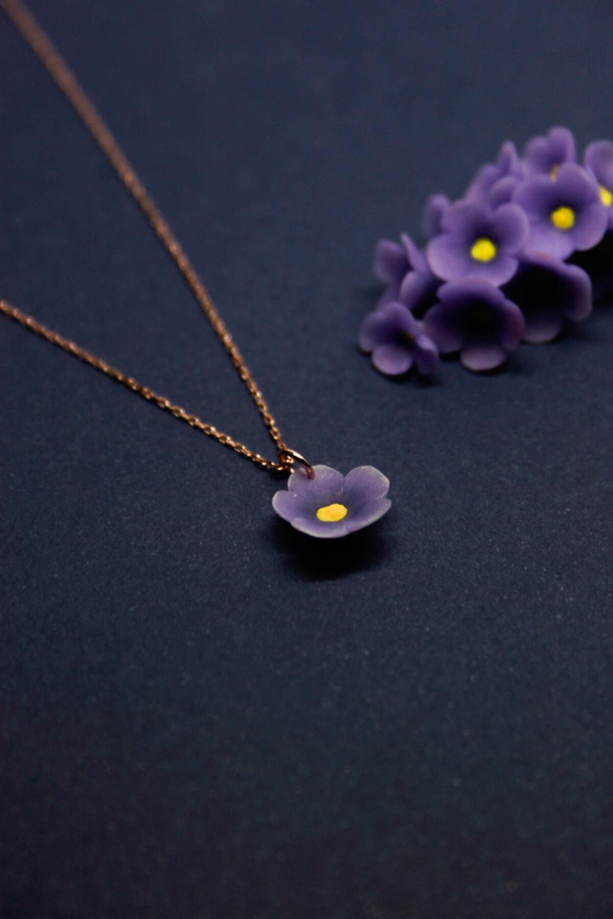 Alegoria Jewellery Leylak Elyapımı 24k Rose Altın Kaplama Gümüş Kolye 2