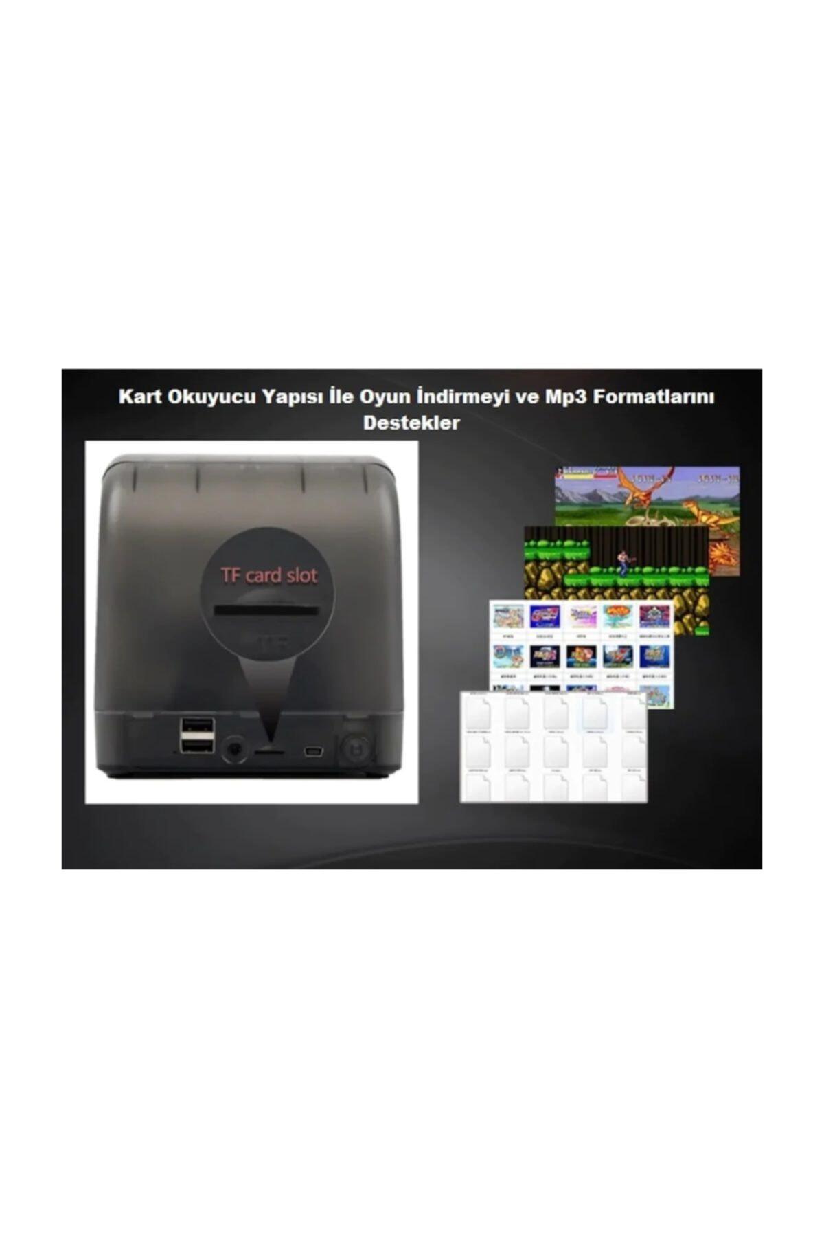 Mini Retro Retro Mini Arcade 16gb 3000 Oyunlu Ekranlı Atari Oyun Makinesi 2