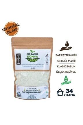 Organik Dünyam Doğal Zeytinyağlı Granül Sabun Tozu 1 kg