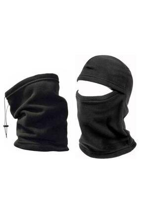 Silyon Askeri Giyim Termal Kar Maskesi Ve Boyunluk 2'li Set