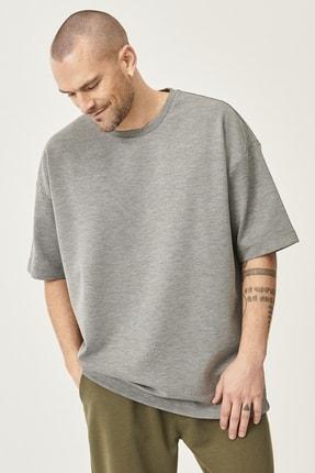 AC&Co / Altınyıldız Classics Günlük Rahat Yuvarlak Yaka Kısa Kollu Oversize Sweatshirt