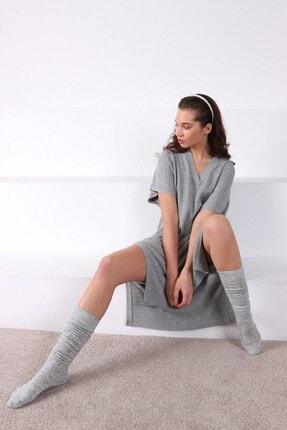 Ferraro Kadın Yandan Yırtmaçlı Kaşmirli Triko Elbise