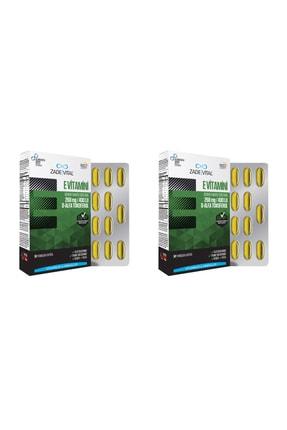 Zade Vital E Vitamini Blister 30 Kapsül 2'li Paket