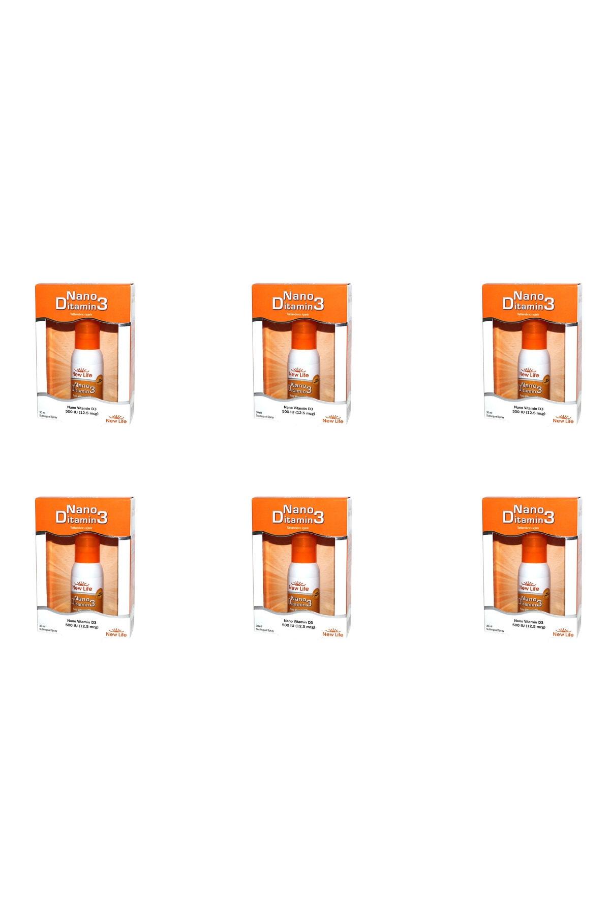 New Life Nano Ditamin D3 D Vitamini 30 Ml 6'lı Paket 1